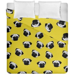 Pug dog pattern Duvet Cover Double Side (California King Size)