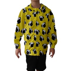 Pug dog pattern Hooded Wind Breaker (Kids)
