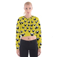 Pug dog pattern Cropped Sweatshirt