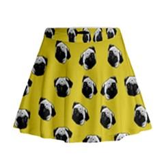 Pug dog pattern Mini Flare Skirt