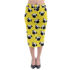 Pug dog pattern Midi Pencil Skirt