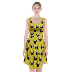 Pug dog pattern Racerback Midi Dress
