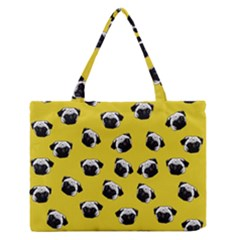 Pug dog pattern Medium Zipper Tote Bag
