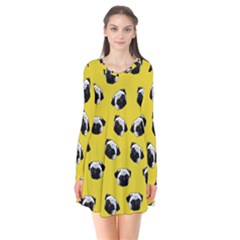Pug dog pattern Flare Dress