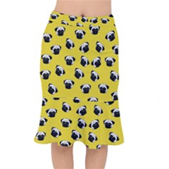 Pug dog pattern Mermaid Skirt