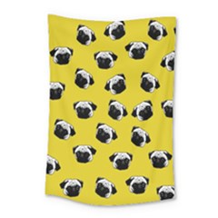 Pug dog pattern Small Tapestry