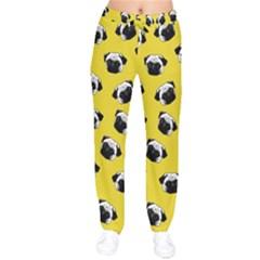 Pug dog pattern Drawstring Pants