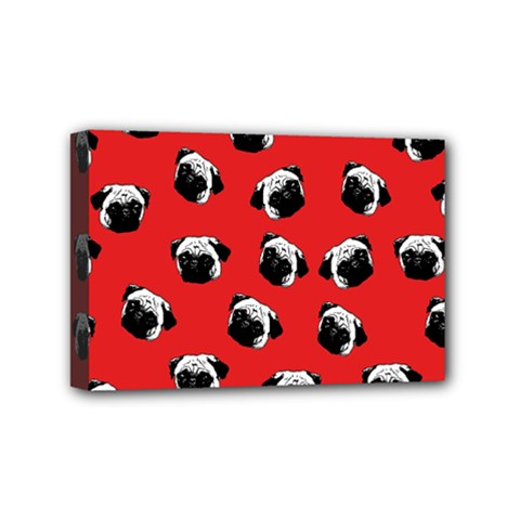 Pug dog pattern Mini Canvas 6  x 4