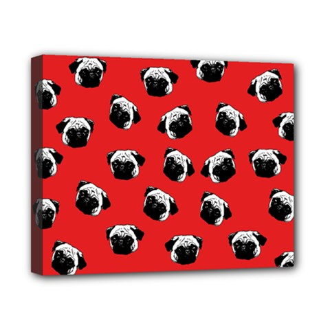 Pug dog pattern Canvas 10  x 8