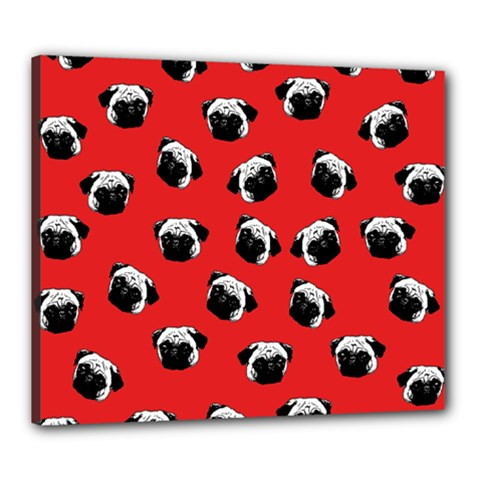 Pug dog pattern Canvas 24  x 20