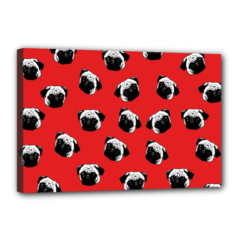 Pug dog pattern Canvas 18  x 12