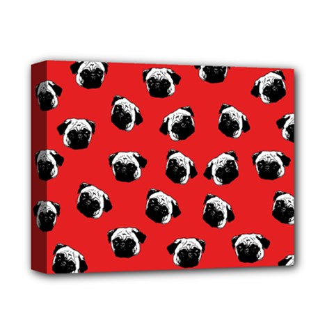 Pug dog pattern Deluxe Canvas 14  x 11