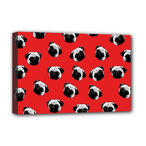 Pug dog pattern Deluxe Canvas 18  x 12