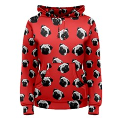 Pug dog pattern Women s Pullover Hoodie