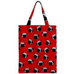 Pug dog pattern Zipper Classic Tote Bag