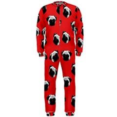 Pug dog pattern OnePiece Jumpsuit (Men)