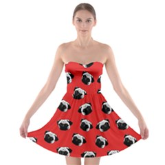 Pug dog pattern Strapless Bra Top Dress