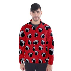 Pug dog pattern Wind Breaker (Men)