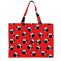 Pug dog pattern Large Tote Bag