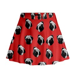 Pug dog pattern Mini Flare Skirt