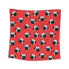 Pug dog pattern Square Tapestry (Small)