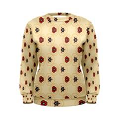 Orange flowers pattern          Women s Sweatshirt