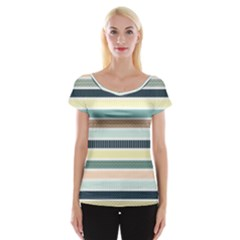Colorful Stripes Bg 6000x4500 Women s Cap Sleeve Top