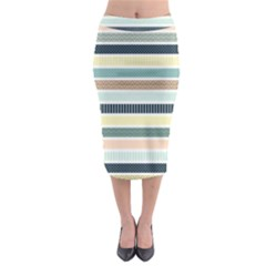 Colorful Stripes Bg 6000x4500 Midi Pencil Skirt