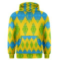 Rhombus pattern           Men s Pullover Hoodie