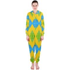 Rhombus pattern           Hooded Jumpsuit (Ladies)