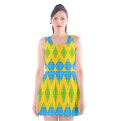 Rhombus pattern      Scoop Neck Skater Dress