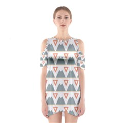 Triangles and other shapes           Women s Cutout Shoulder Dress
