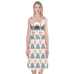 Triangles and other shapes     Midi Sleeveless Dress