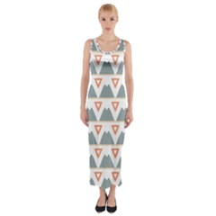 Triangles and other shapes           Fitted Maxi Dress
