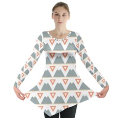 Triangles and other shapes           Long Sleeve Tunic