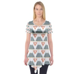 Triangles and other shapes      Short Sleeve Tunic