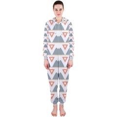 Triangles and other shapes           Hooded Jumpsuit (Ladies)