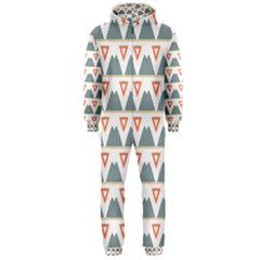 Triangles and other shapes           Hooded Jumpsuit (Men)