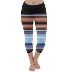 Color Screen Grinding Capri Winter Leggings