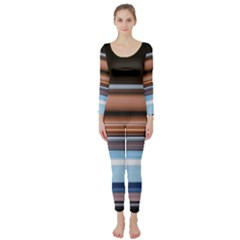 Color Screen Grinding Long Sleeve Catsuit