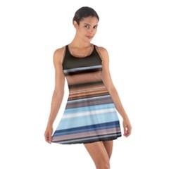 Color Screen Grinding Cotton Racerback Dress