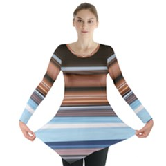 Color Screen Grinding Long Sleeve Tunic