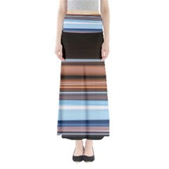 Color Screen Grinding Maxi Skirts