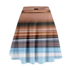 Color Screen Grinding High Waist Skirt
