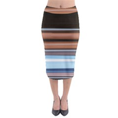 Color Screen Grinding Midi Pencil Skirt