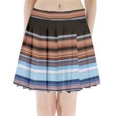 Color Screen Grinding Pleated Mini Skirt