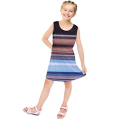Color Screen Grinding Kids  Tunic Dress