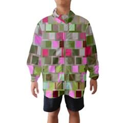 Color Square Tiles Random Effect Wind Breaker (kids)