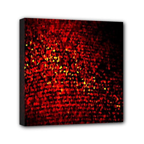Red Particles Background Mini Canvas 6  x 6