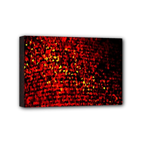 Red Particles Background Mini Canvas 6  x 4